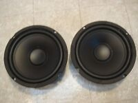 (2) 6.5 Subwoofers Replacement Speakers.woofer Pair.6-1/2.4ohm Pair.6.5in