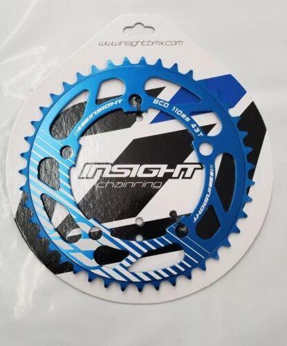 Insight 5-Bolt BMX Chainring 110mm BCD 43T Blue