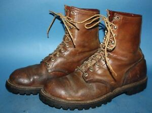 Details about MENS VTG 60s RED WING IRISH SETTER BROWN LEATHER WORKBIKER CHUKKA BOOTS sz 9 D