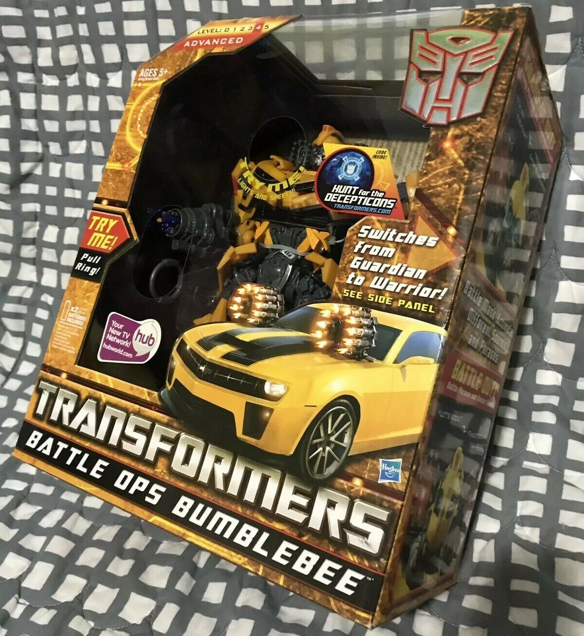 Transformers Bumblebee W Masque Battle OPS HFTD BB nouveau in  Box Lumières Sons Camaro    jusqu'à 60% de réduction