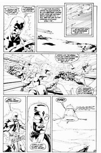 The Outsiders Original Art By Kevin Nowlan