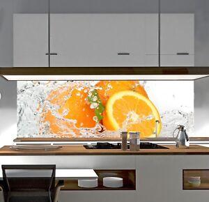Kuchenruckwand Sp4 Orange Spritz Acrylglas Spritzschutz Herd