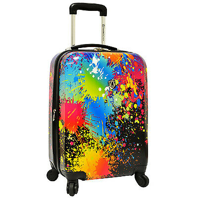 "Paint Splatter Art Print 29"" Unique Hardside Spinner Expandable Luggage Suitcase"