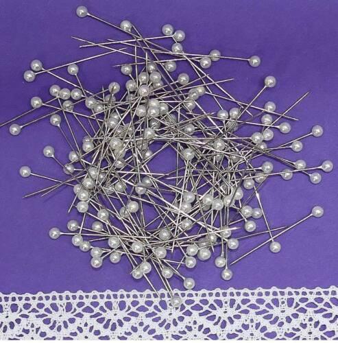 10 150,300 Perlennadeln Nadeln Perlen 4mm Rosennadeln Stecknadeln weiß 100 50