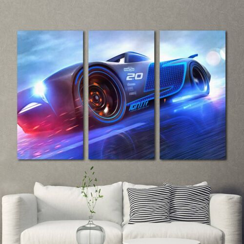 Jackson Storm Cars 3 Painting 3PCS HD Canvas Print Home Decor Wall Art Picture