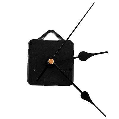 Quiet Silent Retro Quartz Clock Movement Black Hands Mechanism Parts Set