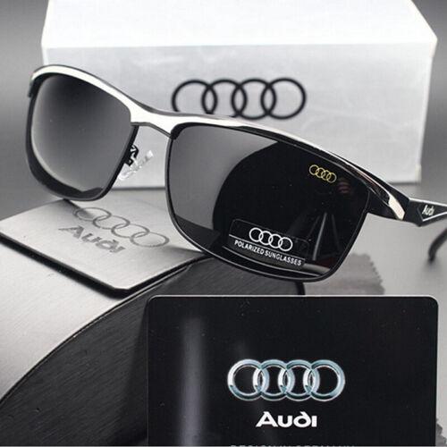 Audi Sunglasses HD POLARIZED Silver Summer Eyewear Men Driving Fishing