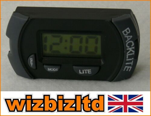 Car Stick on Black and GREY Digital LCD Clock with Sticky Pad LCDCLOCK-BLK