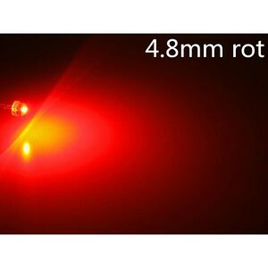 10-Stk-a0307-LEDs-4-8mm-rot-red-Rund-Superhelle-2LM-4-8mm-StrawHat-LEDs