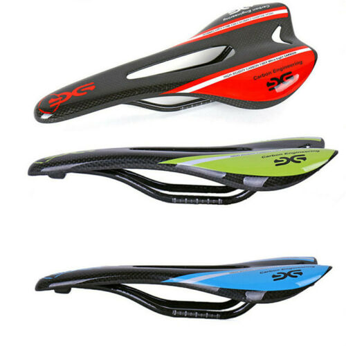 Carbon Fiber Bike Saddle MTB Road Bicycle Seat Cushion Round Bow 7*7mm 3K Gloss