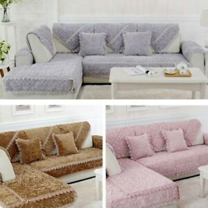 Sofa Mat Modern Home Furniture Plush Slipcover Sectional Couch Protective Cover