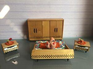 DDR Zubehör Schlafzimmer Möbel für Puppenstube Puppenhaus | eBay