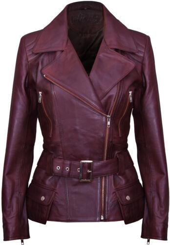Veste Véritable Cuir En Pour Vintage Marron Biker Femmes Vintage 7qB7xFr