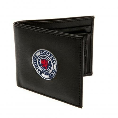 Football Club Official PU Black Embroidered Wallet Crest Badge Team Money