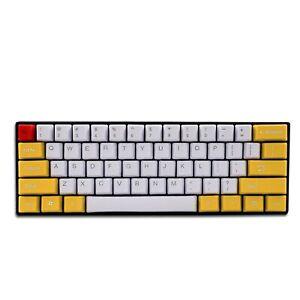 Epomaker 61 Keys Dye Sublimation PBT Keycaps Set for 60% Mechanical Keyboard,...