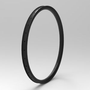 NEXTIE Premium 40mm Width Carbon Fiber 27.5  650B MTB Clincher Rim Tubeless 1PCS