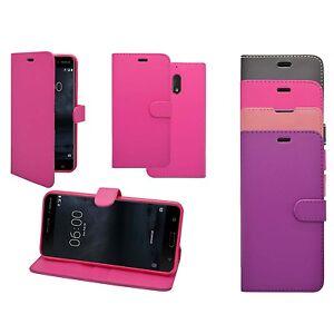 para-Nokia-8-en-Varios-Colores-Libro-De-Cartera-Funda-Movil-monedero