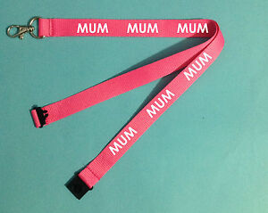 MUM Lanyard Christmas Stocking Gift Black Red Green Orange Navy Blue Yellow work