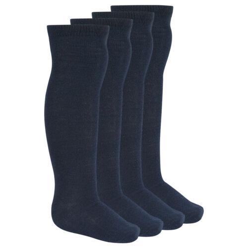 43B27 Girls Bay 3 pairs knee high cotton rich School  socks 43B42