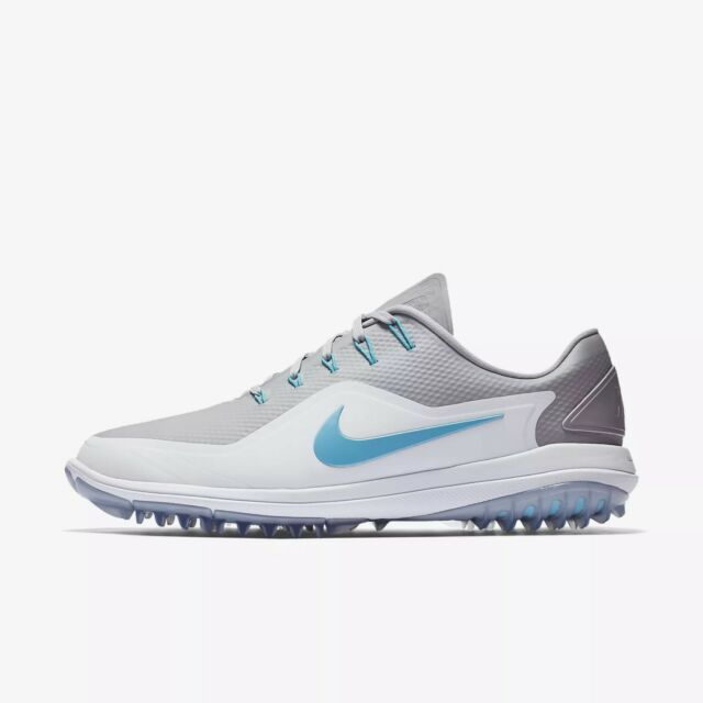 04bb484285097 Mens 2018 Nike Lunar Control Vapor 2 Golf Shoes 899633 Grey Blue White Sz 12