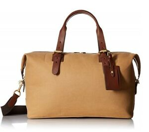 Image is loading SALE-Cole-Haan-Brayton-Canvas-and-Leather-Duffle- 5ddfa0afc7787