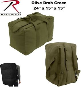 04a861eb8751 Details about Olive Drab Heavy Duty Canvas Military Parachute Cargo Bag  W/Backpack Straps 3125