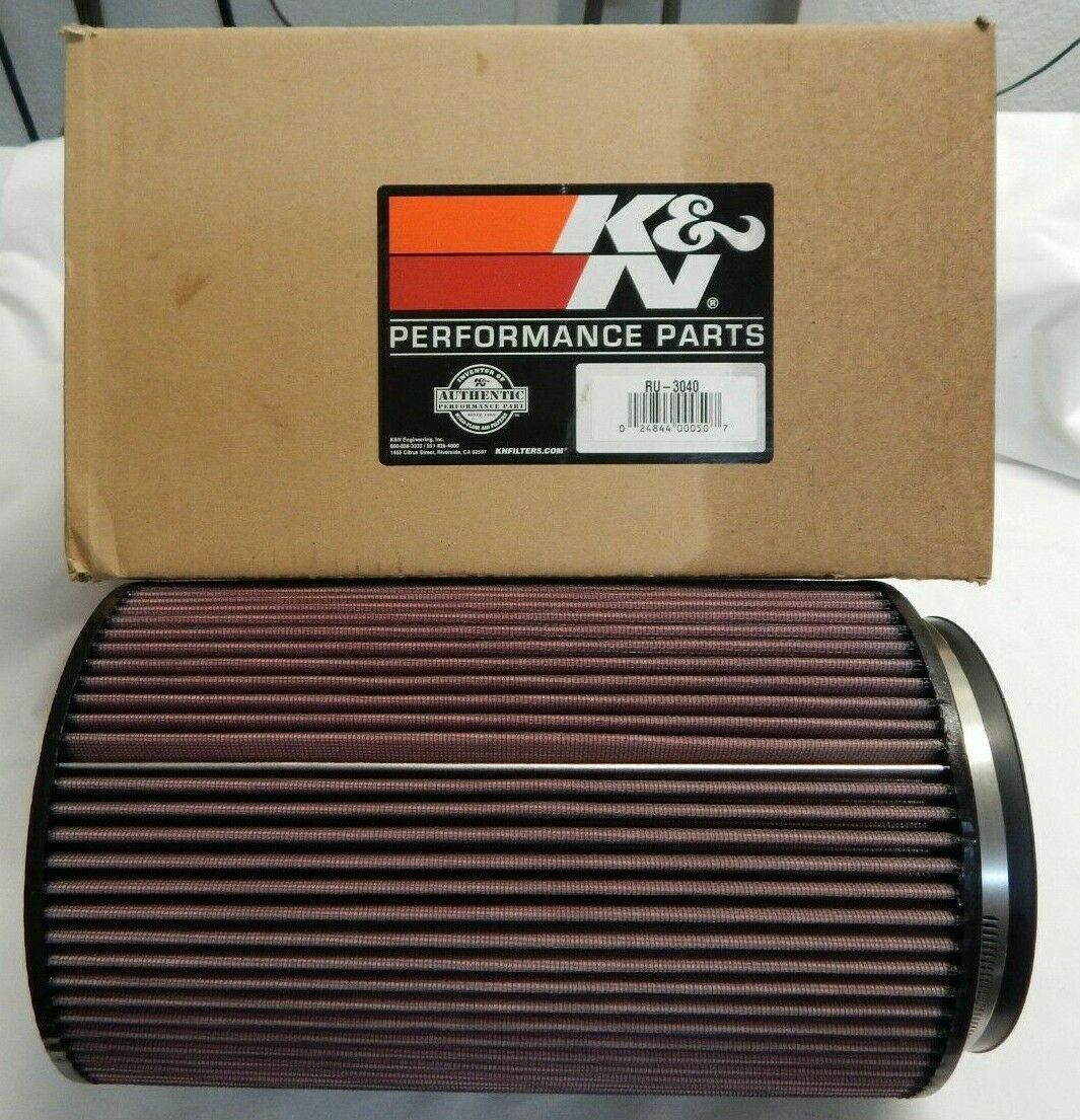 K/&N RU-3040 Universal Clamp-on Air Filter