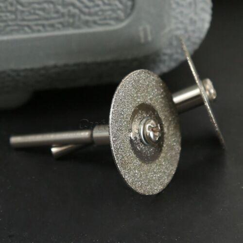 10Pcs 25mm Diamond Rotary Cutting Cut Off Blade Wheel Discs with 2 Mandrel Arbor