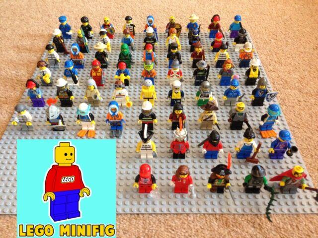 JOB LOT of 5 GENUINE LEGO RANDOM MINIFIGURES + 10 accessories bundle