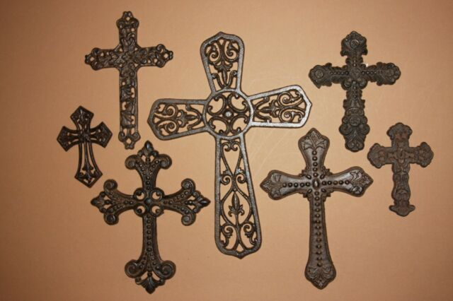 Vintage Look Rustic Cast Iron Cross