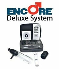 Encore Deluxe Therapy System Vacuum Penis Erection Device Pump w/ 2 Pump Head ED