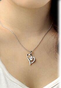 Womens-Fashion-Jewelry-925-Silver-Heart-Crystal-Pendant-Necklace-7-12