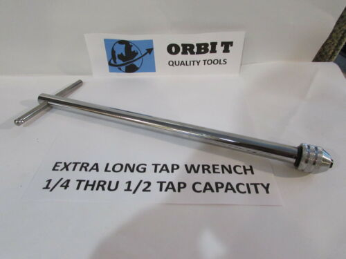 EXTRA LONG TAP WRENCH FOR 1//4 THRU 1//2 TAPS