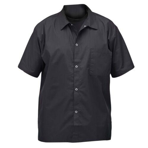 Winco UNF-1KXL, Chef Shirt, Black, XL