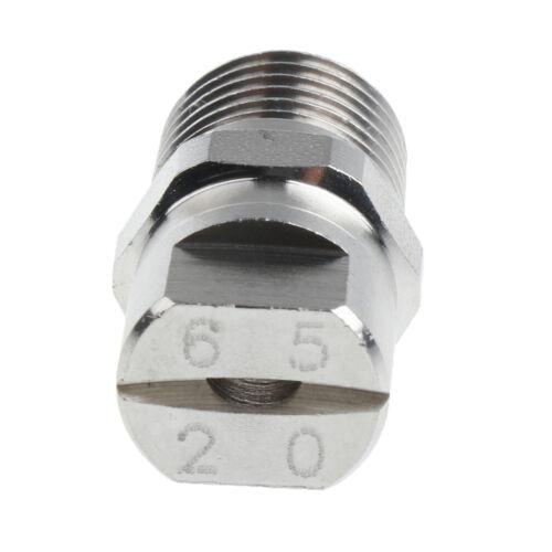 "1//4/"" High Pressure Washer Spray Fan Nozzle Flow 6520 Uniform Spray Pattern"