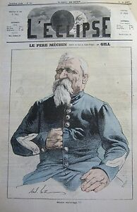 The-Father-Galloway-Caricature-Gill-Journal-Satirical-L-039-Eclipse-No-123-of-1870