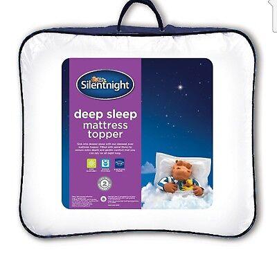 Silentnight Deep Sleep Matress Topper Double White Colour