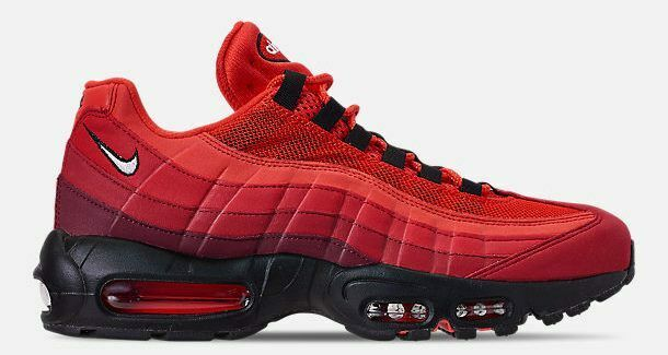 NIKE AIR MAX 95 OG MENs CASUAL HABAblack RED - WHITE - UNIVERSITY RED AUTHENTIC