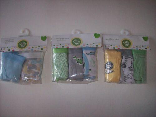 Little Me Underwear Boys 3pk Briefs 2pk Boxer Briefs 2T//3T 4Toddler Cotton