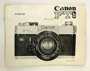 Canon-FTb-Camera-Instruction-Manual-Instructions-ENGLISH-EDITION