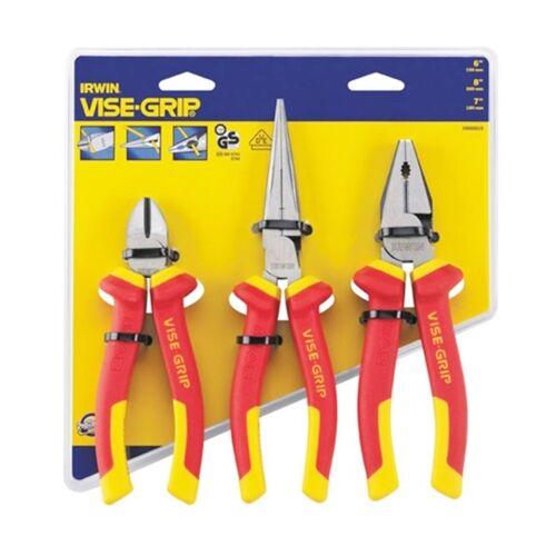 Irwin 10505519 électriciens Pince Set 1000 V VDE Isolé Vise-Grip 3 Pièces