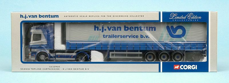 Corgi Modern Heavy Haulage CC12910 Scania Curtainside Van Bentum 1 50 Scale