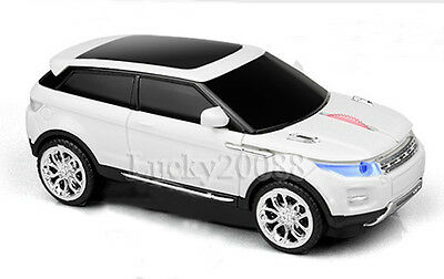 2.4G USB Optical Land Rover Range Car Wireless Mouse 1600DPI Computer Mice Gift