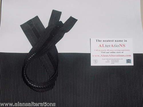 "1 x14/"" #8 HD Vislon Open Ended Separable Zip BLACK C075"