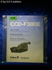 Sony Bedienungsanleitung CCD F380E Video 8 Handycam Recorder (#0316)