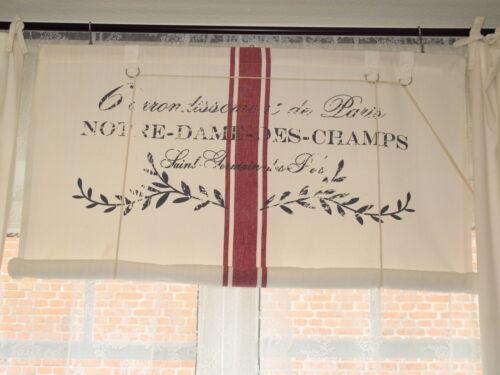 Notre Dame Raffrollo Raffgardine 120x140 oder 140x140 Shabby Vintage Landhaus
