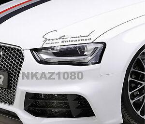 Sports mind Mercedes Benz Vinyl Decal Racing hood sticker emblem logo SILVER