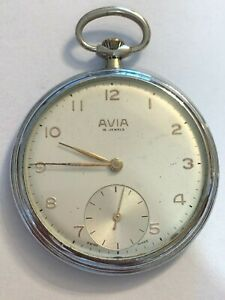 Orologio-da-tasca-Pocket-watch-AVIA-movimento-SHR-4152