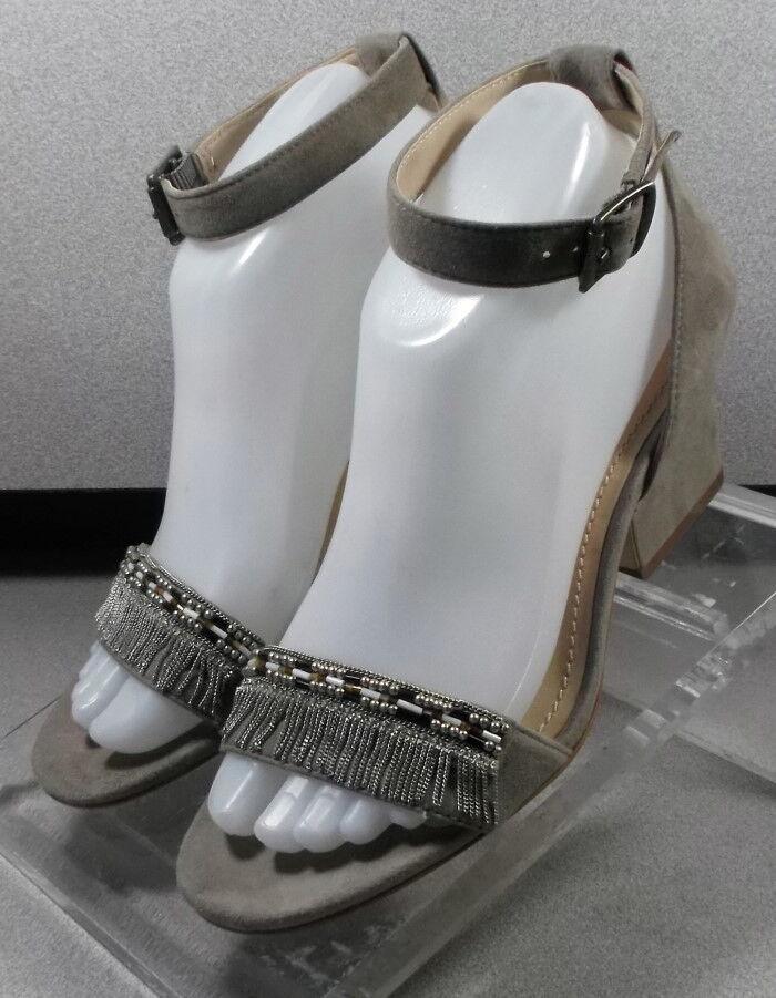 7822073 LSPSA30 Women's Shoes Size 7 M & Taupe Suede Sandals Johnston & M Murphy 21318c