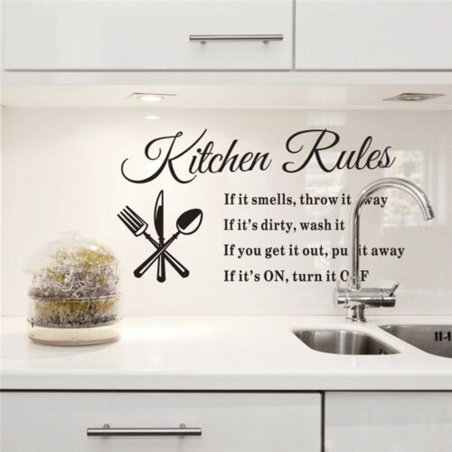 Removable Kitchen Words Wall Stickers Decal Home Decor Vinyl Art Mural DIY #HA2